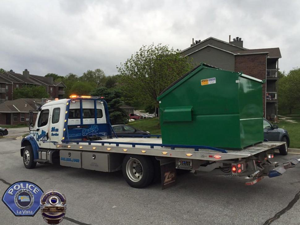 Investigators hauled away the Dumpster and hoped to recover forensic evidence as they investigate, authorities said.