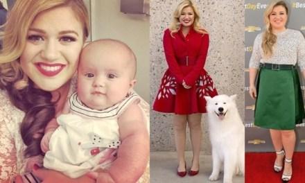 kelly Clarkson Rocks Cute Mini Dress,  Ignores haters