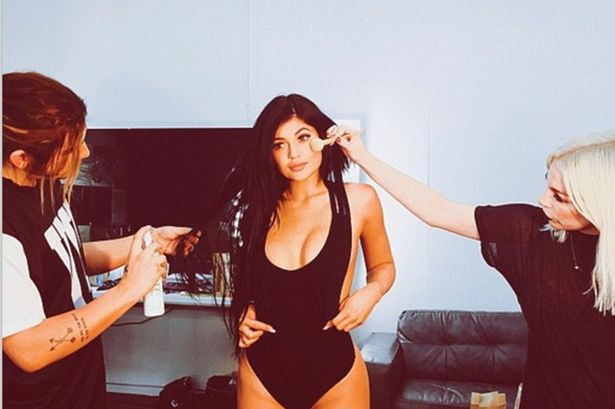 KYLIE JENNER responded to trolls who commented on her weight by posting a stunning picture in a revealing swimsuit.