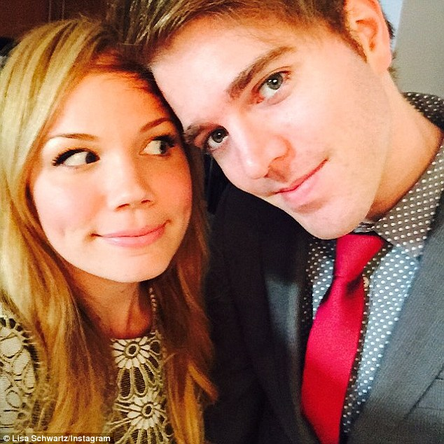 Finding yourself: Shane, who dated fellow YouTuber Lisa Schwartz (left) for two years, says he was sexually confused towards the end of their relationship