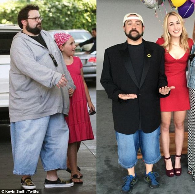 kevin smith weight loss:  Director Drops 85LBS