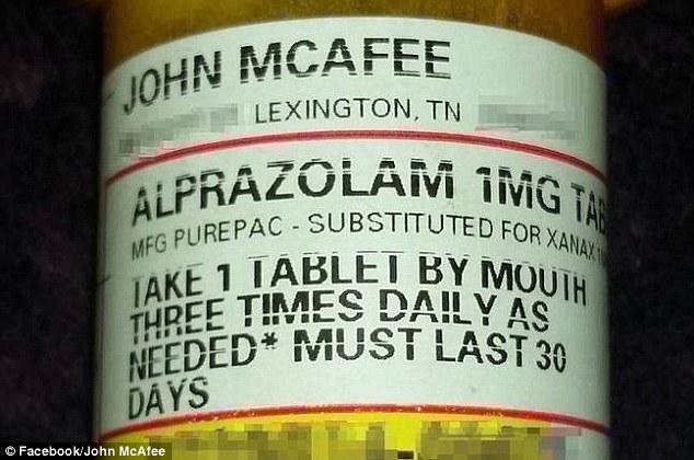 John McAfee drugs