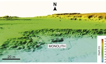 Monolith Found Under Mediterranean Sea Was Carved 9350 Years Ago