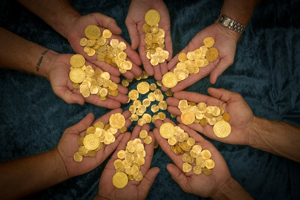 Nine of the coins, called Royals, were made for the King of Spain, Phillip V, and are valued at $300,000 a piece. The nine Royals account for 30 percent of all Royals known to exist, a release said.