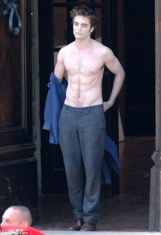 Camera-shy: The multi-award-winning actor still isn't comfortable with paps photographing him in his everyday life. Here he is pictured on the set of Twilight: New Moon in Montepulciano, Italy, in 2009