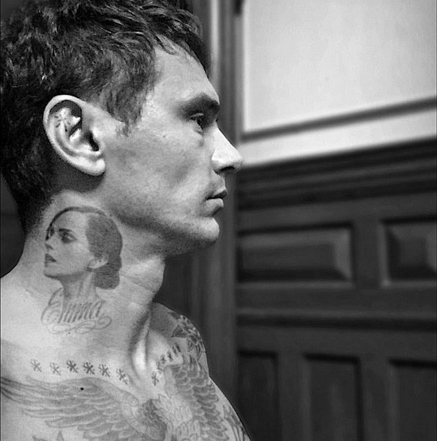 James Franco neck tattoo is all about Emma Watson (PHOTO)