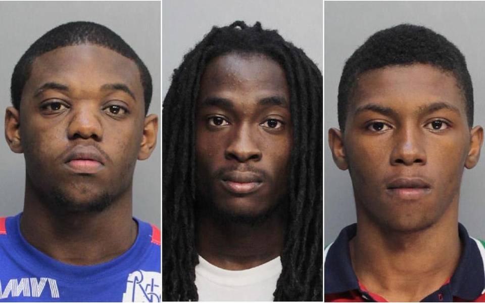 From left: Kaion Lynch, 18; Mark Trimble, 19 ; and Larico Walker, 18, are shown in these Miami-Dade Corrections.The three teens were arrested Saturday, Nov. 21, 2015, in connection with a shooting incident Friday night in the parkinglot during a a game between Miami Central and Carol City High, which yielded no injuries, police said Saturday. Courtesy of Miami-Dade Corrections Department BY LANCE DIXON