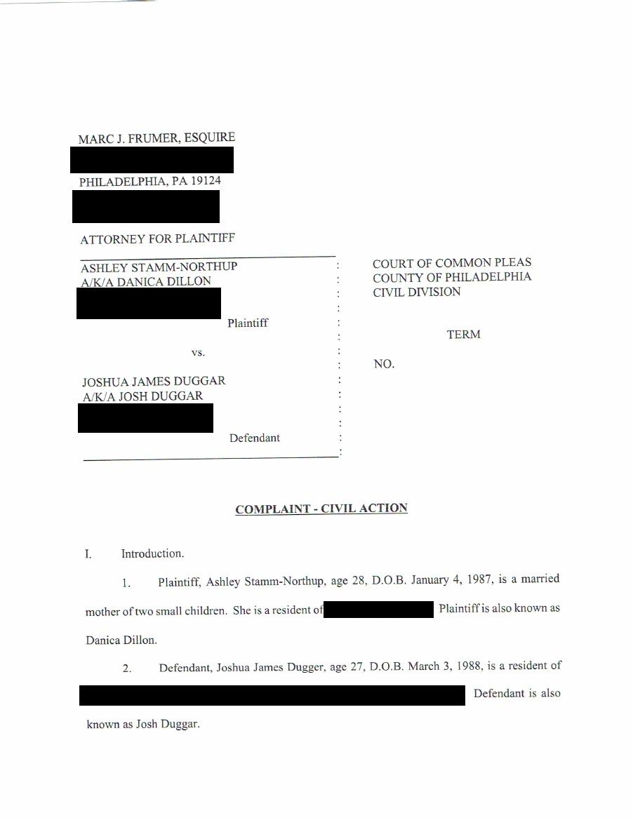 Josh Duggar sued