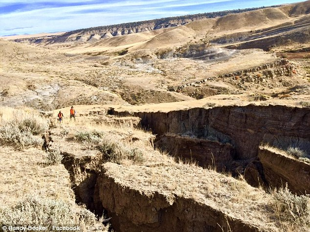 Science: The Wyoming Geological Survey's Seth Wittke told GrindTV : 'Without getting out there and looking at it, I can't be positive, but from what I've seen on the Internet it looks like a slow-moving landslide'