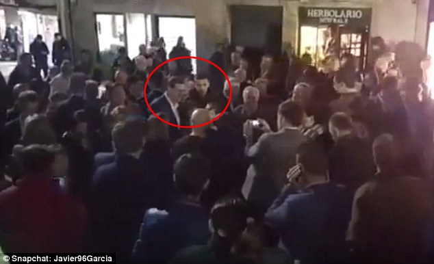 Mariano Rajoy, leader of the country's right-wing Popular Party, was hit by the 17-year-old during a walkabout in the Galician city of Pontevedra ahead of general elections on Sunday Read more: http://www.dailymail.co.uk/news/article-3363312/Shocking-moment-Spanish-Prime-Minister-punched-face-teenager-told-security-wanted-selfie-ahead-Sunday-s-general-election.html#ixzz3uXPBAWhN Follow us: @MailOnline on Twitter | DailyMail on Facebook