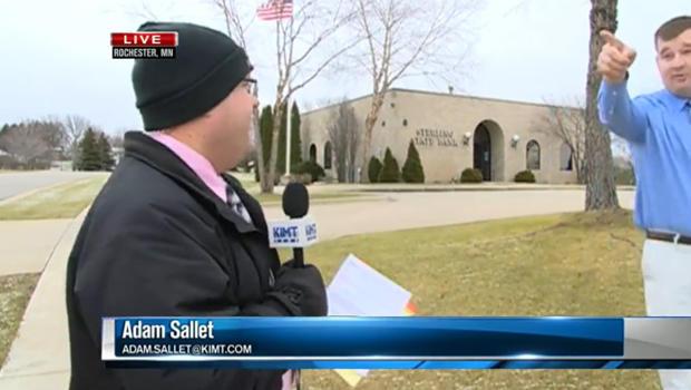 Minnesota bank robbery caught on live TV