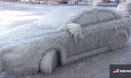 Buffalo car in ice:  Photo Goes Viral On Social Media