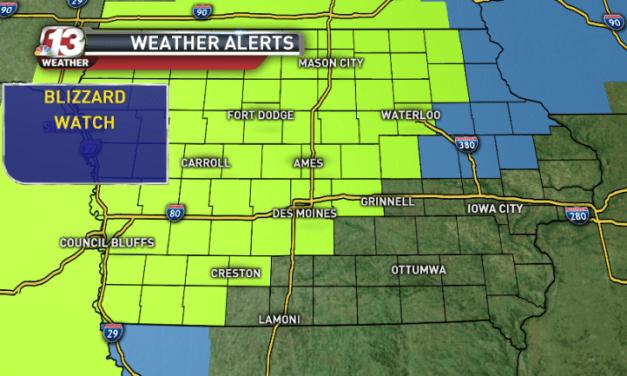 Iowa blizzard to bring heavy snow