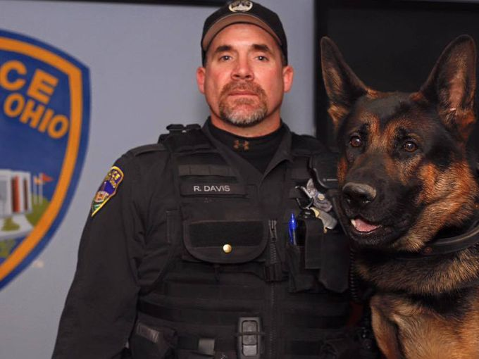 Jethro police dog Ohio Shot In Shoot Out