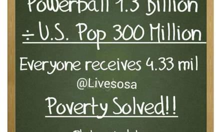 Powerball math meme:  Viral Post Sucks At Math