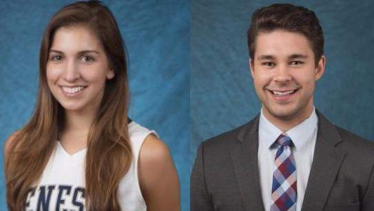 Kelsey Annese and Matthew Hutchinson were fatally stabbed in an apartment in Geneseo, New York. (SUNY-Geneseo)