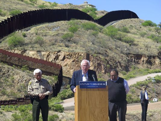 Bernie Sanders border wall:  'We Don't Need a Wall'