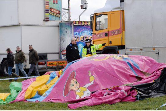 Girl dies on bouncy castle