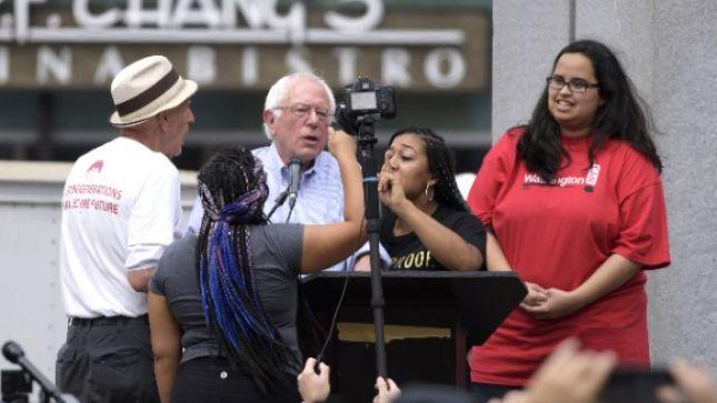 Bernie Sanders protesters