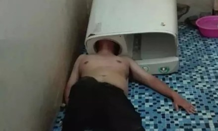 Chinese Man Gets Head Stuck In Washing Machine, Calls 911 For Help