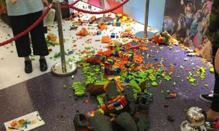 Lego sculpture destroyed: Kid Destroys $15,000 Zootopia LEGO Sculpture