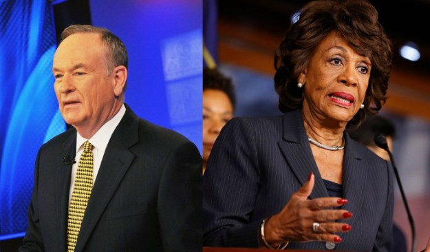 Bill O'Reilly Maxine Waters Remark Sparks Backlash