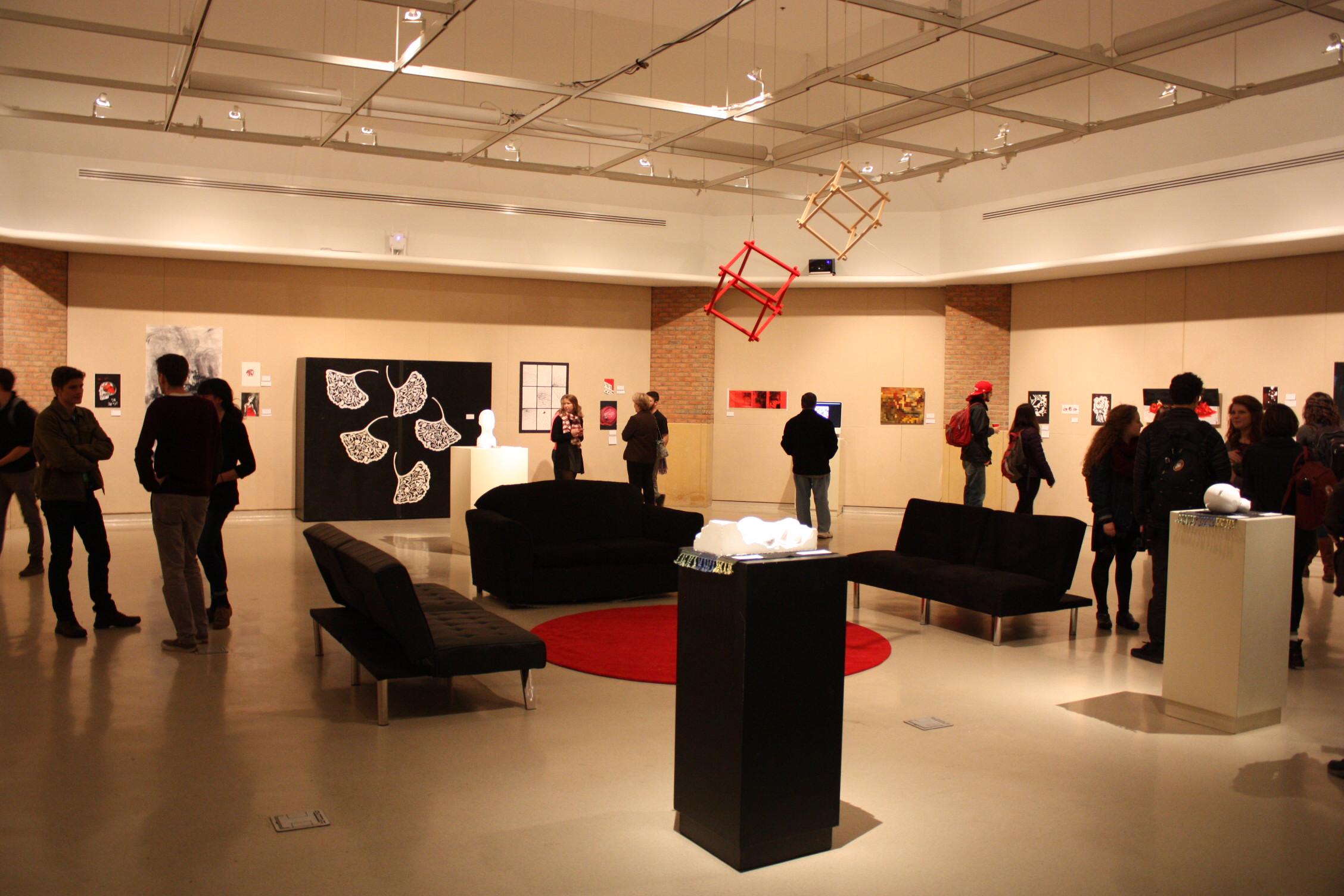 view of Duderstadt Center Gallery Exhibit