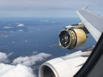 Plane missing an engine
