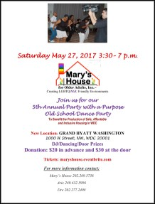 Mary's House for Older Adults' 5th Annual Party with a Purpose Old School Dance Party