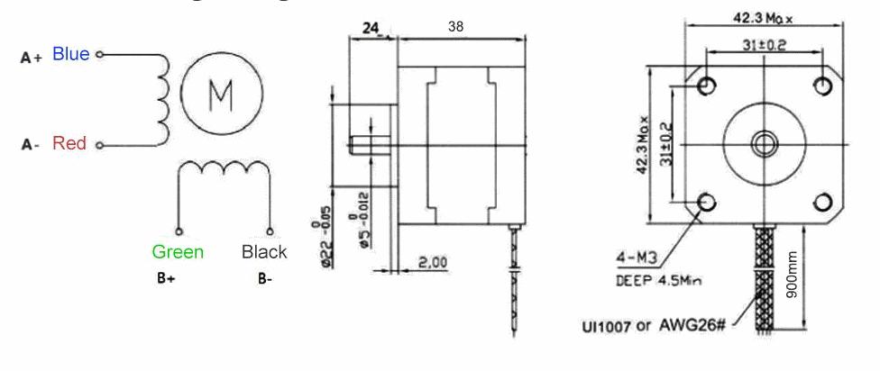 nema 17 stepper motor dcc interfaces. Black Bedroom Furniture Sets. Home Design Ideas