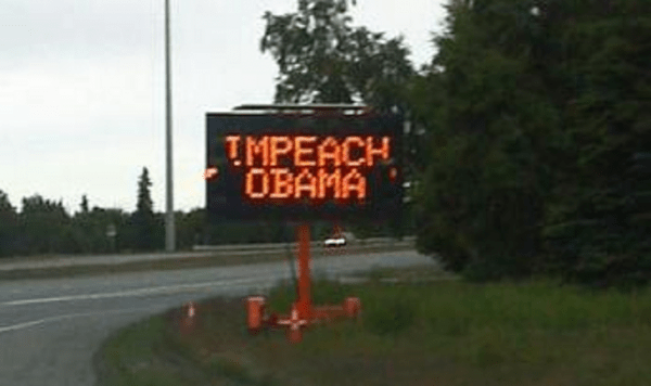Hacked-Road-Sign-Displays-Impeach-Obama-Message