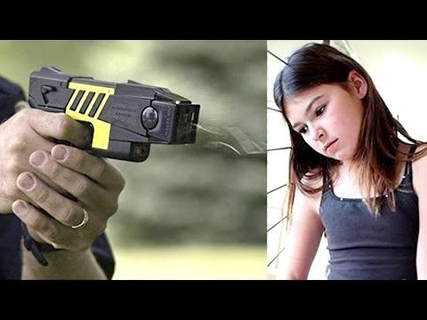 cops tase little girl