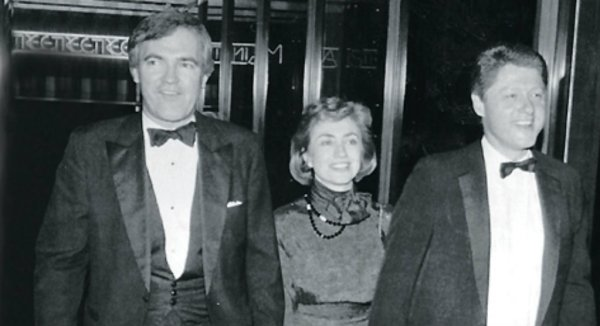 bill hillary clinton with vince foster