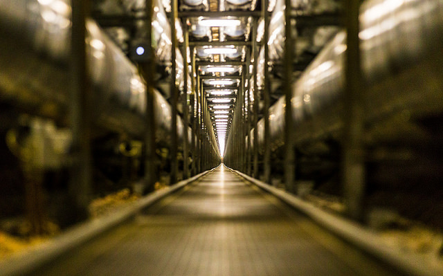 A guided tour inside a massive underground complex: Captured on video