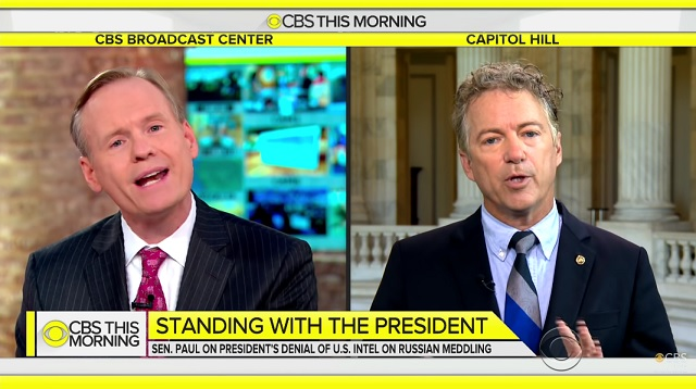 Sen. Rand Paul Humiliates CBS News Hacks On Their Own Show, Praises Trump For Seeking Peace
