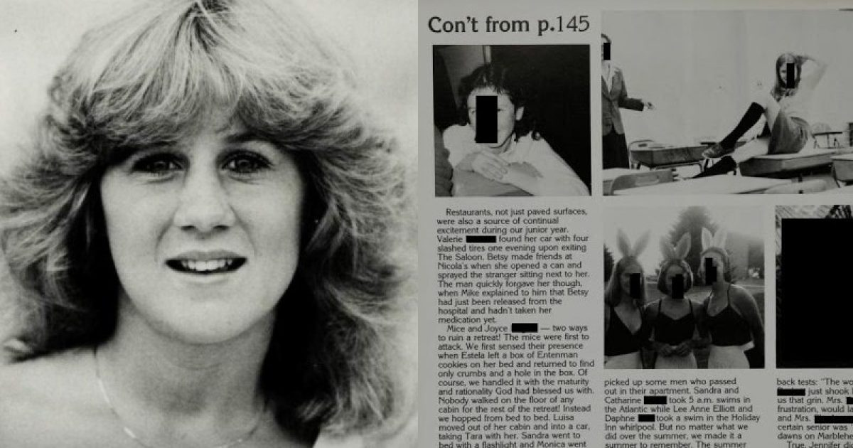 Christine Ford's School Yearbook Detailing Lewd Student Behavior Leaves Unanswered Questions About Her Kavanaugh Claims