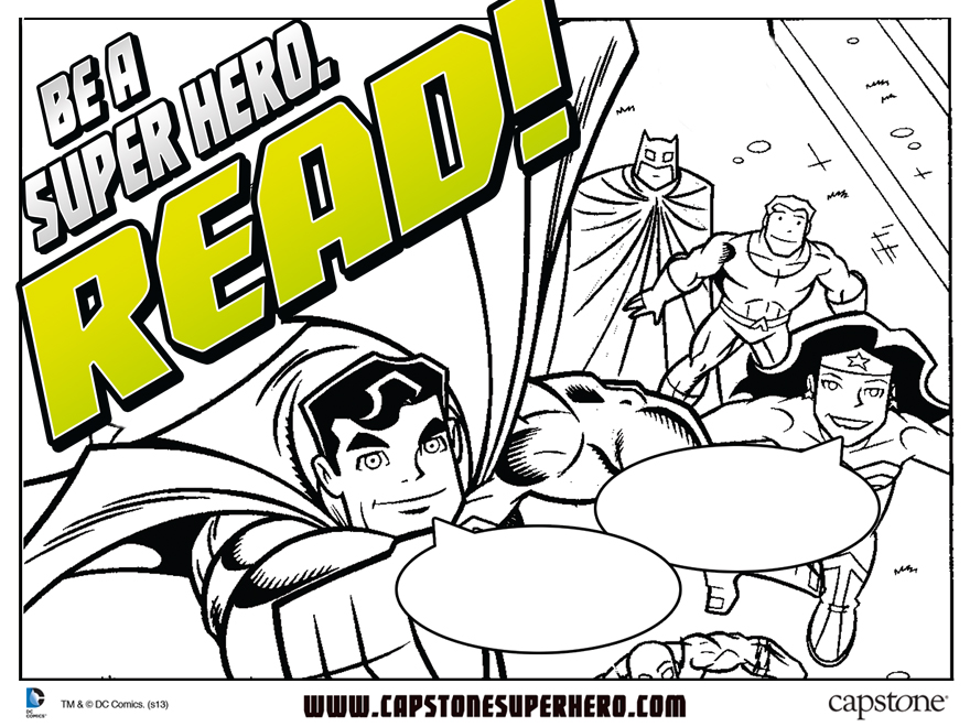 Be A Super Hero Read Activity Sheets DC