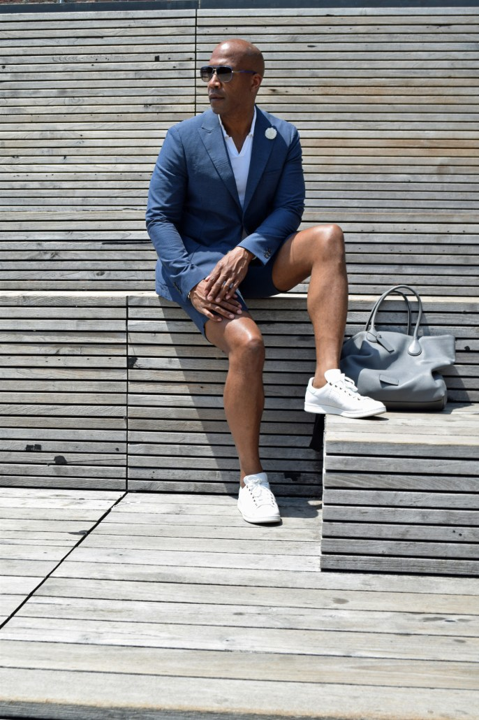 NYFWM suit with shorts -5