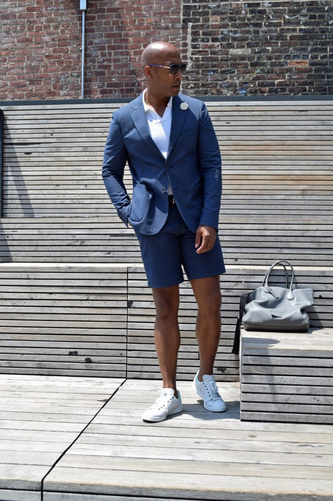 NYFWM suit with shorts -7