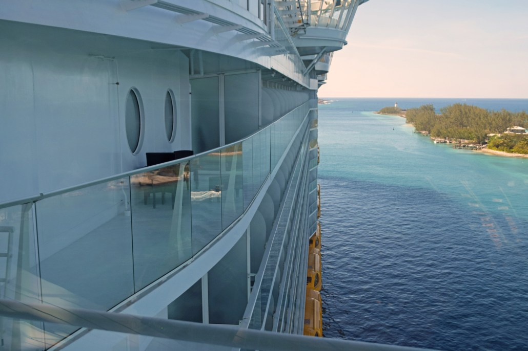 Harmony of the Seas from the deck