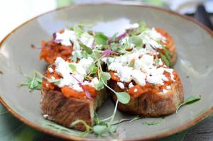 Tomato Toast- Brunch in the Yard