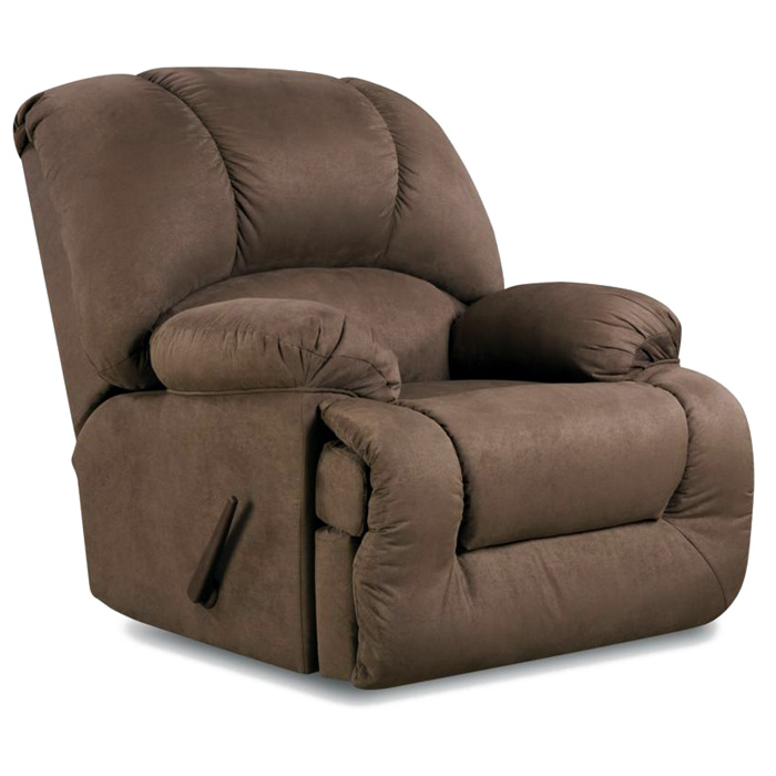 Inglewood Plush Recliner Glacier Dark Brown Fabric DCG