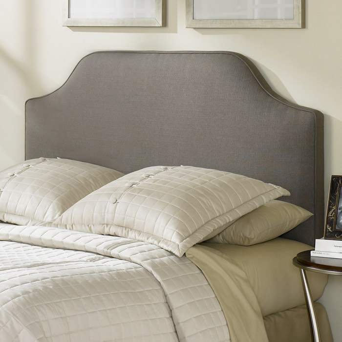 Bordeaux Dolphin Gray Upholstered Fabric Headboard DCG
