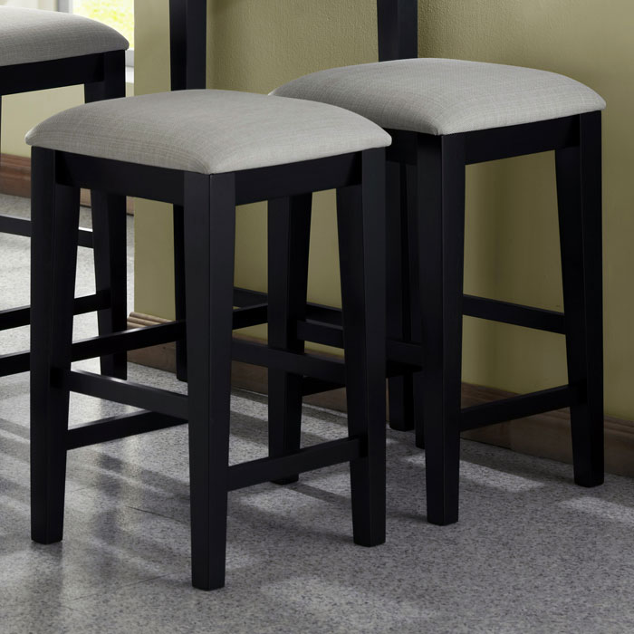 Destiny 24 Backless Counter Stool Black Gray Seat Set Of 2 DCG Stores