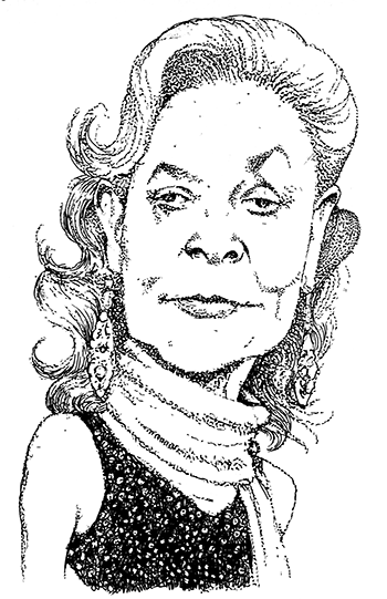 Caricature from the New York Observer