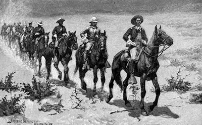 Drawing by Frederic Remington