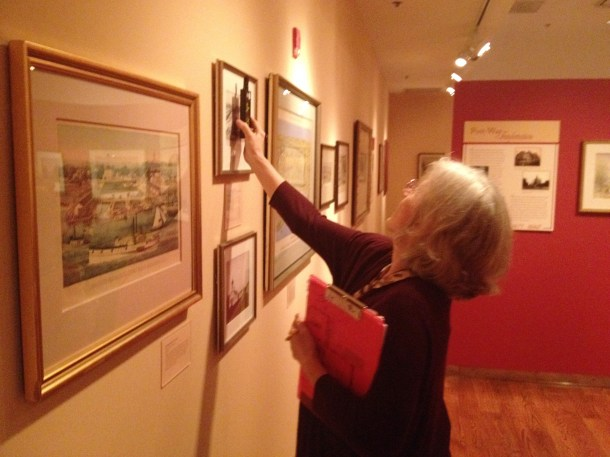 """The light level in the """"Window to Washington"""" exhibit got good marks from consultant Wendy Jessup.  While dataloggers currently capture light readings, as recommended by the CAP consultants the Society's wishlist includes a portable light meter."""
