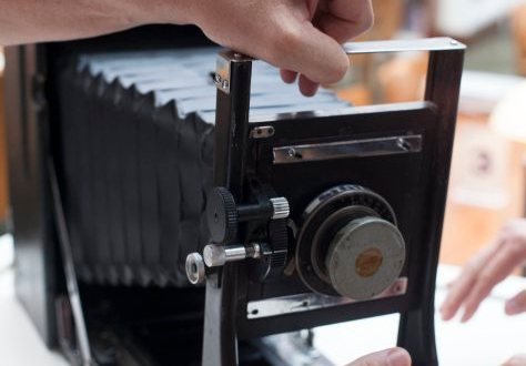 Along with thousands of panoramic images, donors Mark and Douglas Segal contributed their father's massive Cirkut camera to the Society's collection.