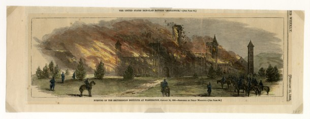 The Castle, burning, 1865.(KC0785)