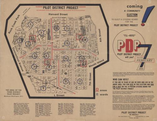 Pilot District Project Map, 1970